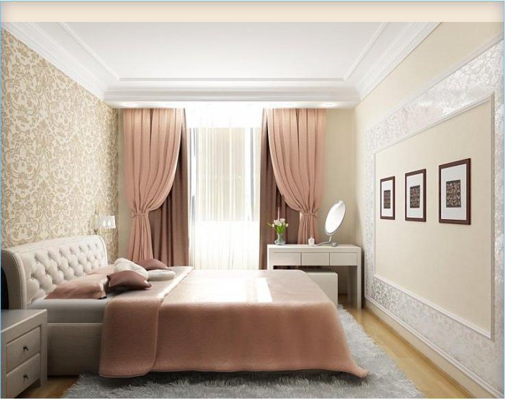Дизайн спальни 12 кв м в классическом